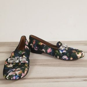 Seychelles Printed Beaded Loafers Shoes Size 9.5
